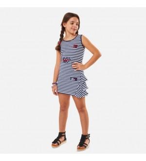 Εβίτα Φόρεμα Ρίγες Κορίτσι